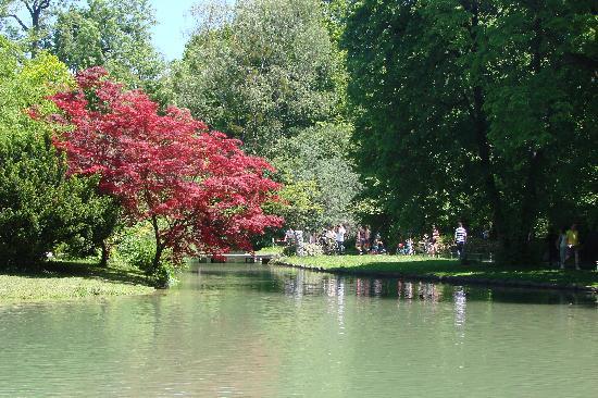 Jardín inglés: sunny day at the park