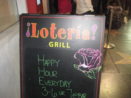Loteria Grill: Wonderful deals at Happy Hour