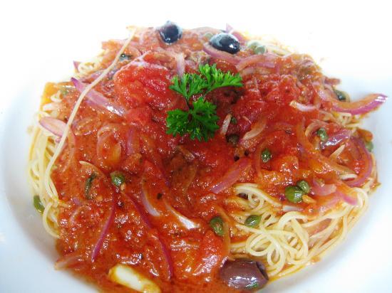 Portobello : capellini puttanesca