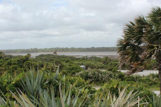 Guana Tolomato Matanzas National Estuarine Research Reserve : The view from the beach across behind the parking lot