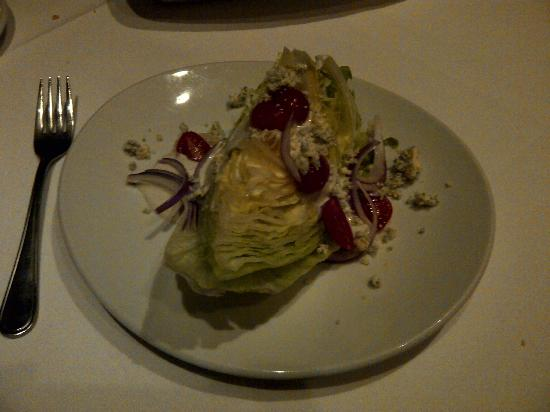 Fleming's Prime Steakhouse & Wine Bar: Wedge salad topped with blue cheese crumbles