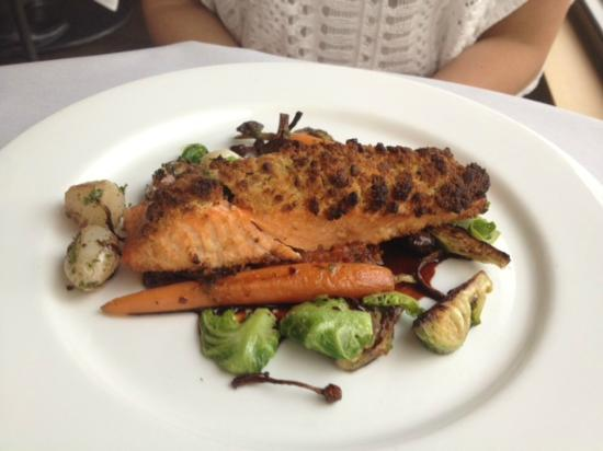 The Forest Grill: The salmon had a nice preparation, but was overcooked