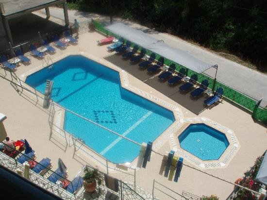Akis Studios: The pool area from our balcony