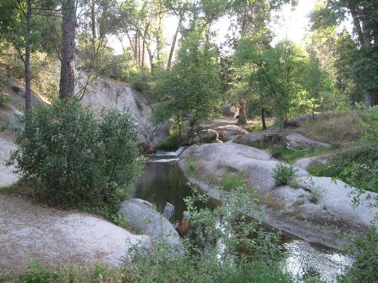 High Sierra RV Park & Campground: Flowing stream view