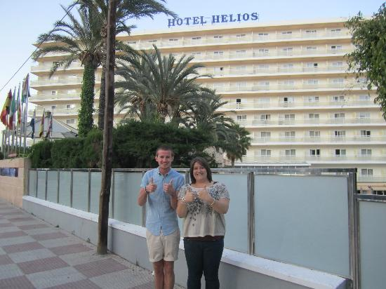 Hotel Helios Benidorm : Outside the Helios