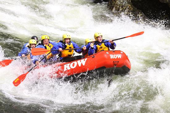 Lochsa River Rafting - ROW: All efforts to stay dry are futile!