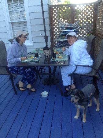 Bewitched & BEDazzled Bed & Breakfast: Family Breakfast on the Deck