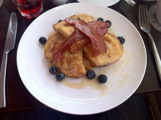 One Broad Street Guesthouse: one piece of French toast already eaten...delicious