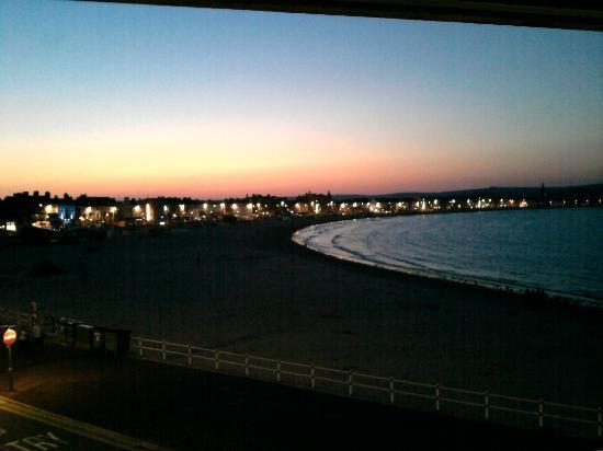weymouth beach at night