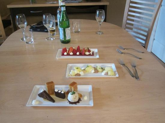 Painted Boat Resort: A sampling of the divine desserts ordered from restaurant