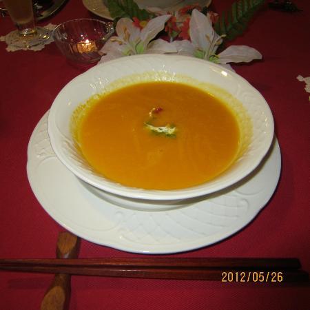 Lumbini: ニンジンスープです。