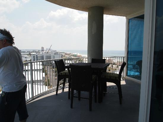 Bel Sole Condominiums: Balcony off of living area - dining out here is a must