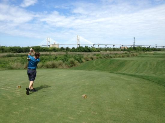 The Club at Savannah Harbor: Me Teeing off on the 5th hole