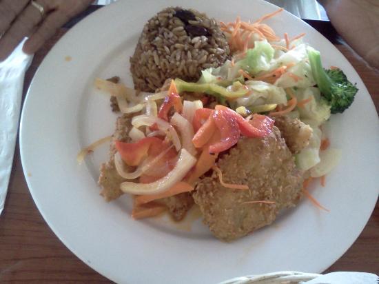 Derrick's Jamaican Cuisine : Salmon Platter