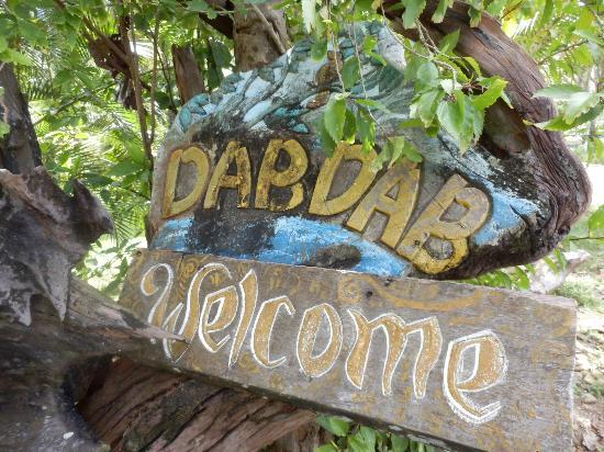 DabDab Resort: Sign at Entrance