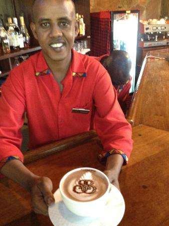 Sarova Mara Game Camp: Mohammed the bar manager.  Or is it Barack Obama?
