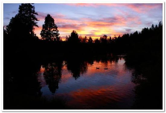 St. Bernard Lodge: Pond at Sunset