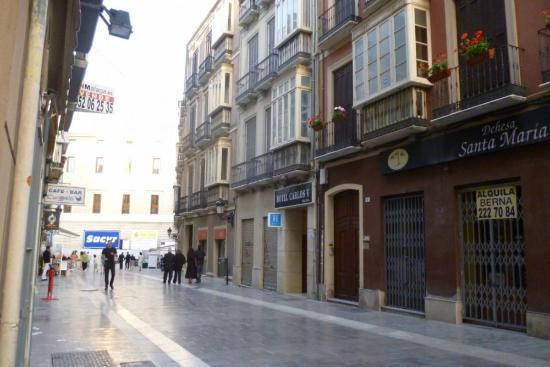 Hotel Carlos V : The street and the Hotel