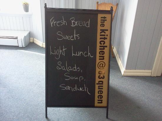 The Kitchen @ 83 Queen: Sandwich Board