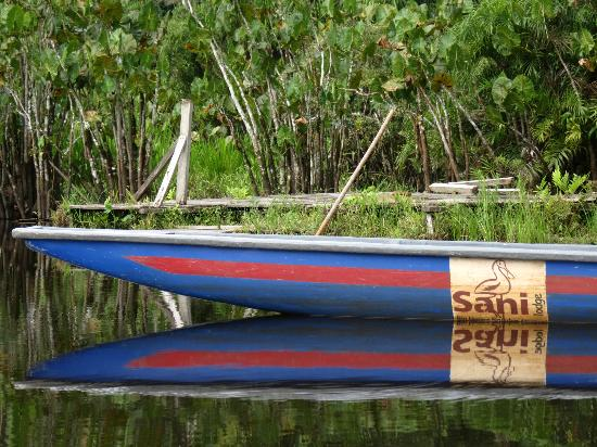 ‪‪Sani Lodge‬: The kind of canoe used to get around the rivers and lagoons around Sani Lodge.‬