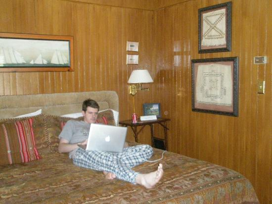 The Verandas: Our son relaxing in rm.