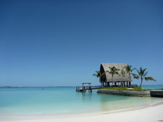 Shangri-La's Villingili Resort and Spa Maldives: View from the main beach