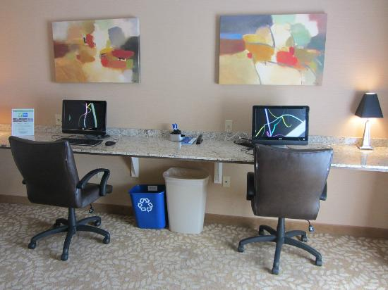 Holiday Inn Express Hotel & Suites Malone: Business center terminals