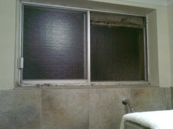 Bilinga Beach Motel : filthy screen in bathroom window