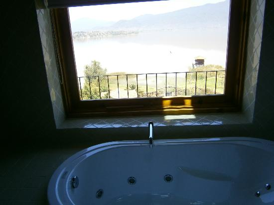 Hacienda Ucazanaztacua: View from the bathroom