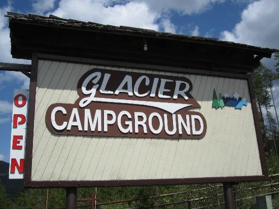 Glacier Campground: Sign from Rte 2