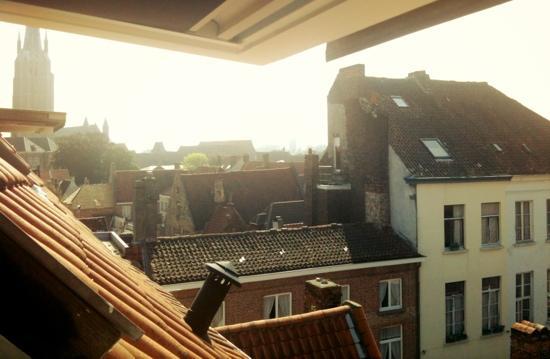 Hotel Groeninghe: vue magnifique sur Bruge