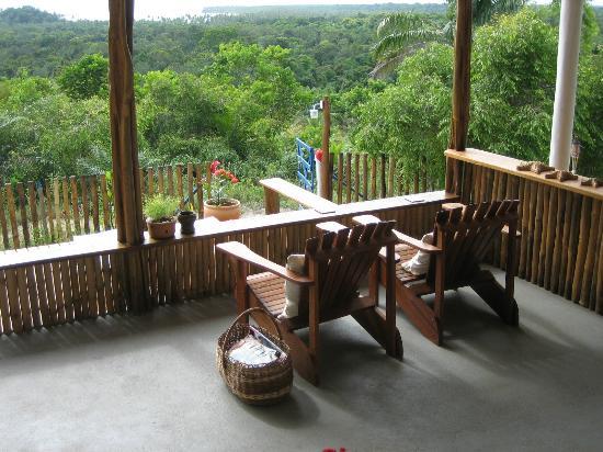 Eco-Pousada Casa Bobo: terraza de la habitación