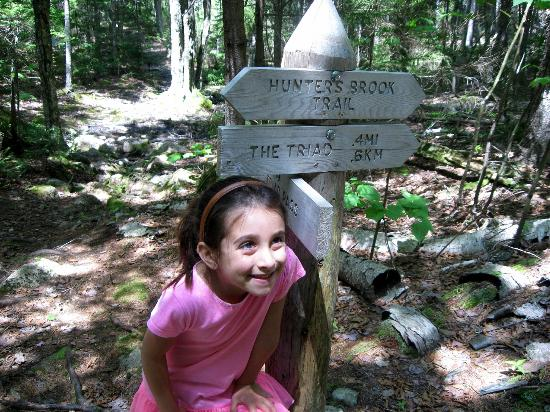 Blackwoods Campground: Triad trail marker