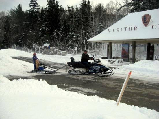Blackwoods Campground: Snowmobiling in Acadia