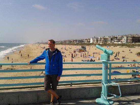 Residence Inn Los Angeles LAX/Manhattan Beach: Hinter mir der Strand von MB.