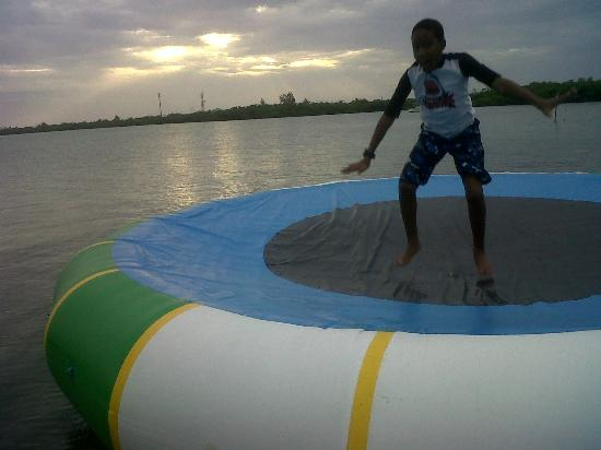 Sunset Cove: whoohoo water trampoline