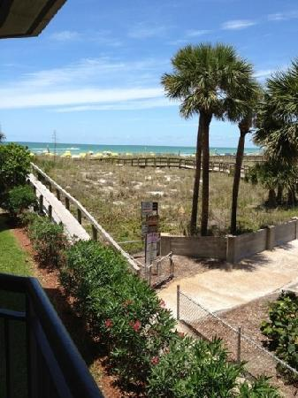 Gulf Strand Resort: view from room 204