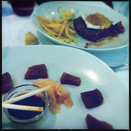 Pradillo: Sashimi de atún y hamburguesa con brie