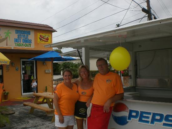Seaside Dawgs & Beef: Therea & Jim at the grand opening!