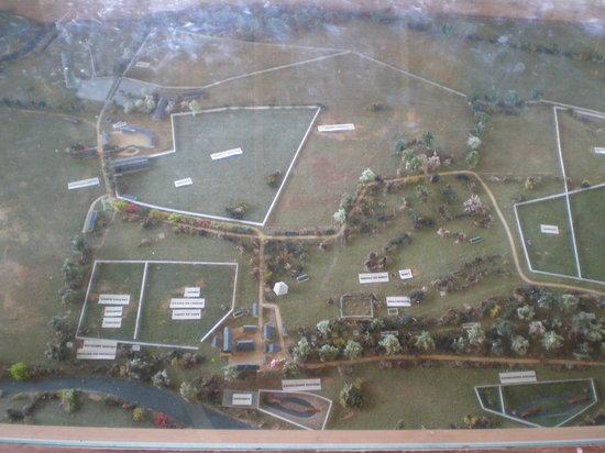 Domaine de la Petite Couere: Model of the site