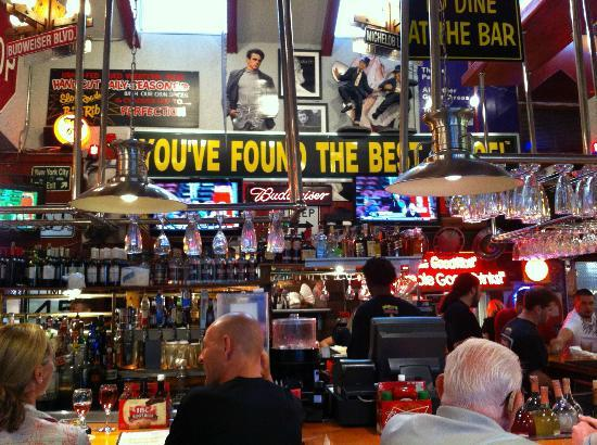 The bar in Manny's