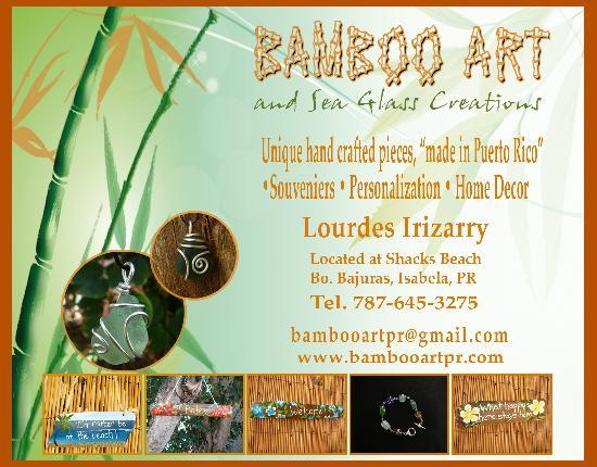 Bamboo Art & Sea Glass Creations: Open Monday thru Saturday, Noon - 4pm