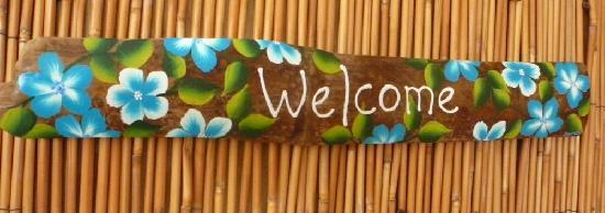 Bamboo Art & Sea Glass Creations: Welcome Guests adding an artist touch to your home or business