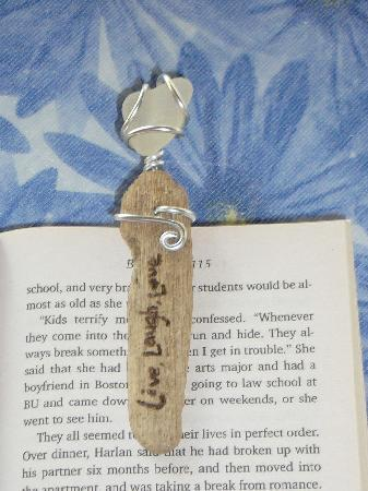 Bamboo Art & Sea Glass Creations: Unique gifts such as bookmarkers (shown here), Wine Glass Charms, Car Charms, and more