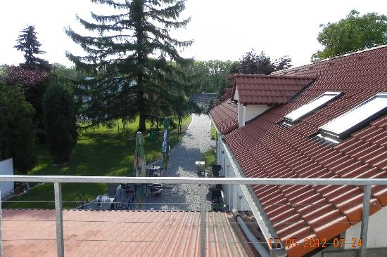 Alt Pension : vista dal balcone di camera