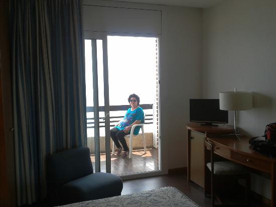 Hotel Kursaal: Amplio balcón