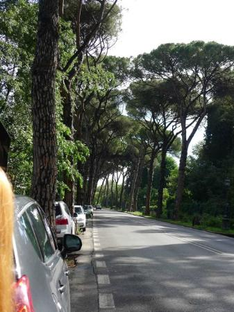 Casa di Mina: we were parked along the side of street