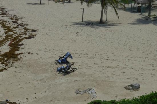 Azulik's beach chairs - yup, both of 'em.