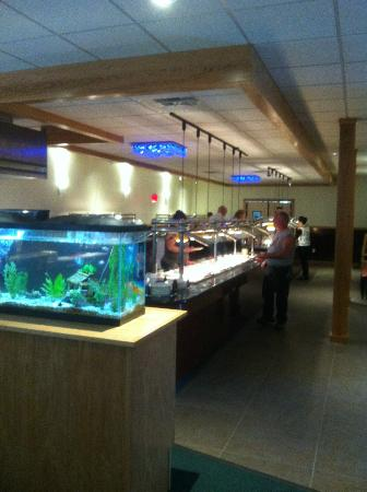 Saint Albans, VT: Very nice selection in this upscale mostly Asian buffet.