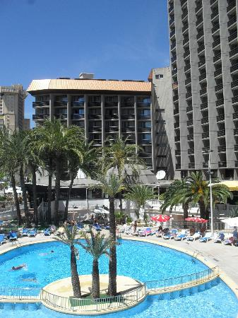 Hotel Marina Resort Benidorm : View of Hotel from Secret Fountain Bar